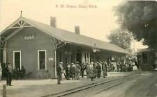 Michigan, MI, Hart, P M Depot 1917  Postcard