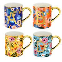 4Pcs 12oz Coffee Cups Mugs Floral Mugs for Coffee Tea Cocoa Home Cup Bohemian