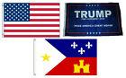 3x5 Trump #1 & USA American & City of Acadiana Wholesale Set Flag 3'x5'
