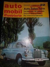 Zeitschrift magazine Auto Mobil Illustrierte November 1965 Nr.22 Auto SalonTurin