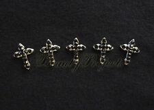 (5pcs) nail art 3D black cross charm rhinestone charms acrylic nails gel A210