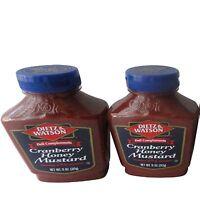 Dietz & Watson Deli Compliments Cranberry Honey Mustard 11 oz Bottles 2 Pack