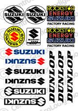 Kit 15 Adesivi Suzuki  Dunlop universali auto moto