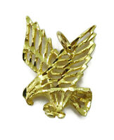 10K Yellow Gold Flying Eagle Charm Necklace Pendant ~ 1.3g