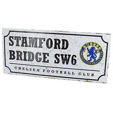 Chelsea FC Calcio retrò in metallo Street segno Nuovo Ufficiale