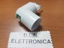 PORTA LAMPADA E27 ADATTATORE CON SPINA REGOLABILE A 90° PER 22OV PRESA ELETTRICA