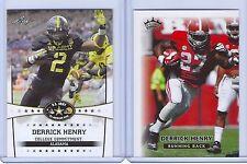 "DERRICK HENRY 2013/14 LEAF ""1ST EVER PRINTED"" 2 CARD COLLEGE PRE-ROOKIE LOT!"