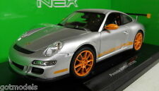 NEX 1/18 Scale - 18015W Porsche 911 997 GT3 RS Silver Orange diecast model car