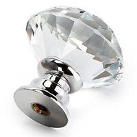 12pzs Manejar de vidrio cristal en forma de diamante, 30 m Manejar de cajon D2R6
