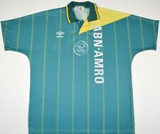 1991-1993 AJAX UMBRO AWAY FOOTBALL SHIRT (SIZE L)