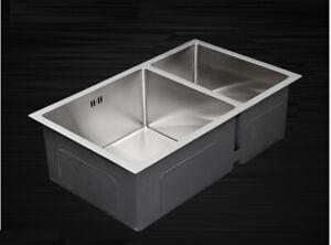 1.5 Bowl Handmade Stainless Steel Undermount Kitchen Sink 670x440 SUS304