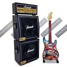 Mini Guitar Iron Maiden trooper + Amplifier Amp scale 1:4 miniature collectible