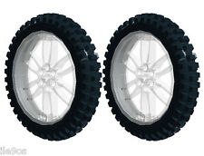 2 Lego XL MOTOCROSS Tires + CLEAR Wheels (technic,bike,cycle,bicycle,motorcycle)