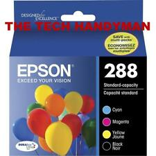 4-PACK Epson GENUINE 288 Black & Color Ink (RETAIL BOX) EXPRESSION XP-440