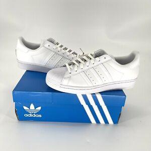 NWT Adidas Original Mens White Superstar Shell Toe Shoes Size 8.5