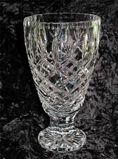 STUNNING CRYSTAL GLASS VASE Diamond Shaped Relief Pattern