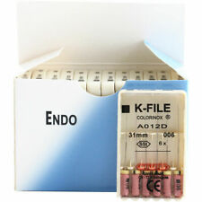 12 Packs Dental K-FILE 31mm #006 Stainless Steel Endo Root Canal Drill Hand Use