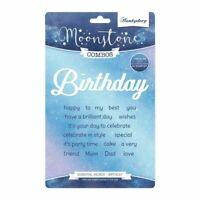 Hunkydory Moonstone Essential Words BIRTHDAY Sentiment Stamp &Die Set MSTONE0139