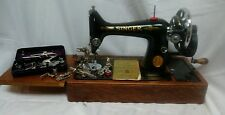 Vintage 1939 Manual Singer 99K Sewing Machine +shelf  Case with keys Accessories