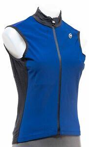 Assos UMA GT Spring Fall Airblock Vest Women MEDIUM Blue Road Bike Cycling MTB