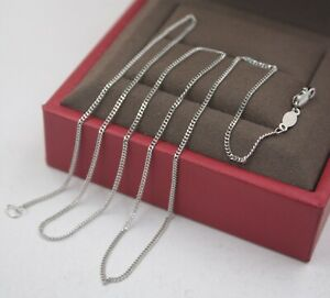 """Real Pt950 Pure Platinum 950 Perfect Curb Chain Woman's Fashion Necklace 17.7""""L"""