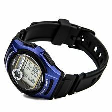 W-213-2A Blue Resin Band Digital 5 Alarms 10-Year Battery Life Men's Casio 50m