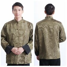 Chinese Men's Dragon Kung Fu Party Jacket/Coat Embroidery Dragon Size:M--3XL @