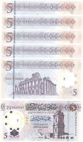 Libya - 5 pcs x 5 Dinars 2021 UNC Lemberg-Zp
