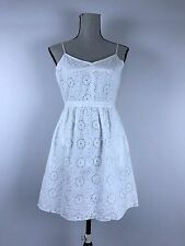 NEW Madewell Cami Dress in Eyelet Sunflower Summer White size 4