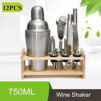 25.8oz Pro Cocktail Shaker Set Drink Maker Mixer Bar Tool Martini Bartender Kit
