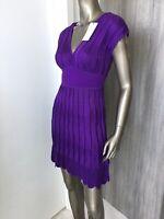 NWT Stunning M MISSONI Knitted Deep Purple Women's Dress Sz 40/ 4