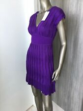 NWT Stunning M MISSONI Knitted Deep Purple Women's Dress Sz 40/ 4