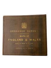 More details for vintage ordnance survey travel box 12 maps 1920
