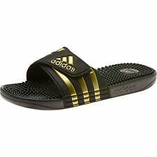 Adidas Adilette Adissage Beach Sandals Slippers EG6517 Black Gold