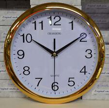Wanduhr Uhr Quarz Uhrzeiger Küsche wanduhr Analoguhr Ohne Ticken 26cm Gold