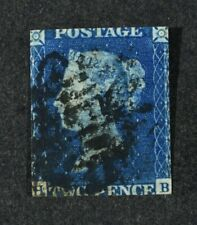 QV, 1840, 2d. blue value, SG 5, used condition, Cat £950.