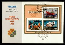 DR WHO 1983 PENRHYN FDC WORLD COMMUNICATIONS YEAR S/S  C237559