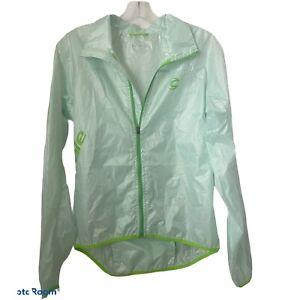 Cannondale Pack Me Jacket Racing Green/Melon Color Light Rain Pocket Medium