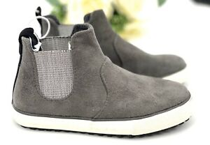 NEW Boy's Anton Sneakers Size 11 Shoe Gray Faux Suede Mid Top Cat & Jack