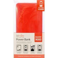 BITMORE Juucee 9000mAh DualPort Slim Power Bank charger ORANGE Apple Android