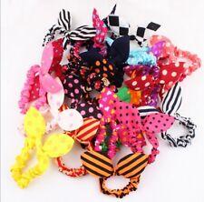 11Pcs New Fashion Korean Girls Bunny Ear Headband Rabbit Ear Hair Band Bow Tie