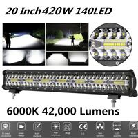 20 inch 420W 42000LM Flood Spot Combo LED Bar Fog/Work Light for Off-road, Truck