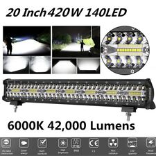 20 inch 420W 42000LM Flood Spot Combo LED Bar Fog/Work Light for Off-road, Truck