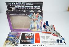 Starscream MIB 100% Complete A 1985 Vintage Action Figure G1 Transformers