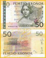 Sweden 50 Kronor p-64b 2008 UNC Banknote