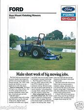Equipment Brochure Ford 930a Rear Mount Finishing Mower 1988 E2869