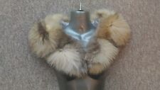 C16new design real  golden blond fox  fur  scarf collar