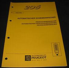 Werkstatthandbuch Peugeot 206 Automatischer Scheibenwischer Stand Juli 1998
