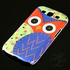 Samsung Galaxy S3 NEO Hard Handy Schale Case Schutz Hülle große Eule Blau Owl