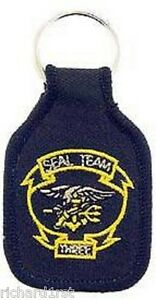 Embroidered Cloth Military Key Ring Navy SEAL Team 3 NEW
